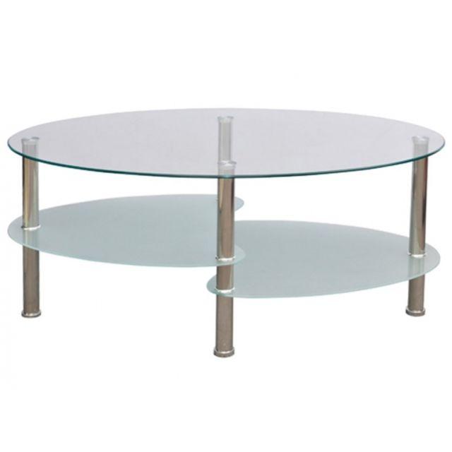 Autre Table basse de salon salle à manger design blanche verre 90 x 45 cm 0902001