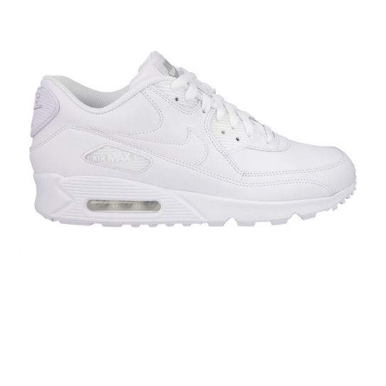 972f321d0a67 Nike - Chaussures Air Max 90 Leather Full White h16 - pas cher Achat    Vente Baskets homme - RueDuCommerce