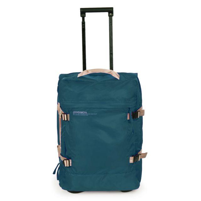 BENSIMON Valise Rollercase turquoise 51cm Valise en nylon à 2 roues et multi rangements. Il est dôté d'un intérieur organisé et très fonctionnel. Parfait pour les voyageurs qui veulent se déplacer avec confo