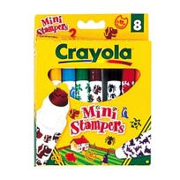 Crayola - 8 feutres Mini-Stampers Animaux