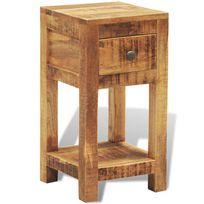 Vimeu-Outillage - Table d'appoint 1 tiroir en bois massif