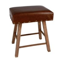 Atmosphera - Tabouret vintage time marron