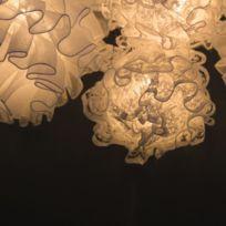 Lotti - Guirlande lumineuse Fleur Tulle - L. 135 cm - Blanc