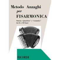 Ricordi - Méthodes Et Pédagogie Anzaghi L.o Metodo Completo Teorico-pratico Progressivo Accordéon