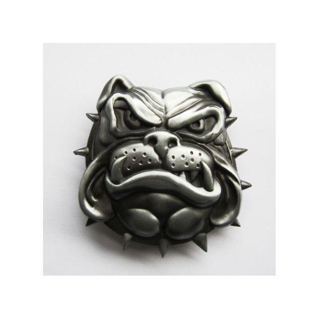 Universel - Boucle de ceinture tete de bulldog 3d alu cheine homme femme e6f67a5cb26