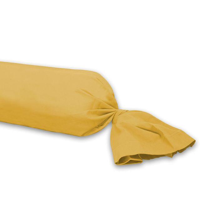 Decoline Taie de traversin 85 x 185 cm jaune miel