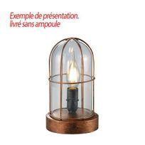 Millumine - Lampe salon Cuivrée Port de Honfleur