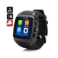 Montre téléphone Bluetooth android 3G étanche Android Noir