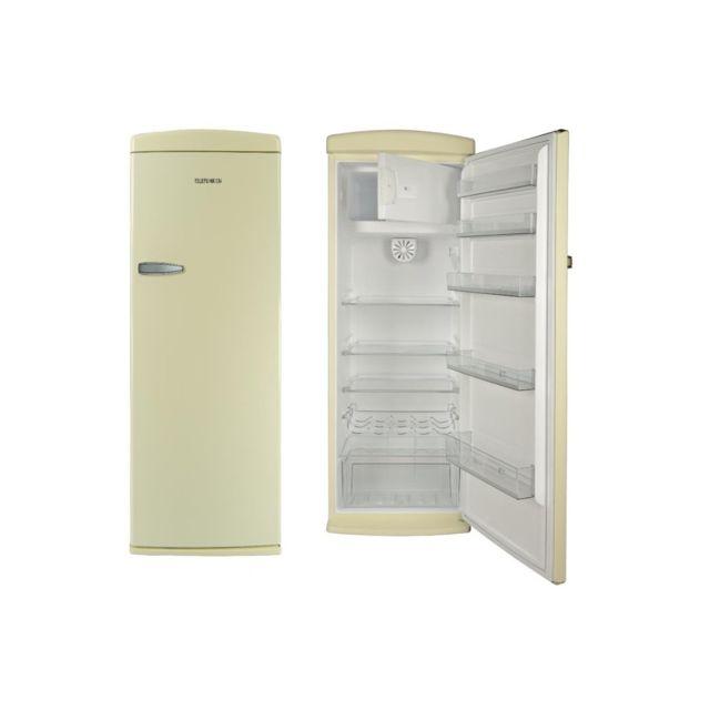 Telefunken - Tfnvin311CRM Réfrigérateur 1 porte Creme