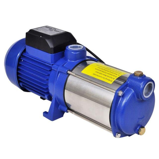 Superbe Pompes famille Oulan-Bator Pompe à eau de surface bleue 1 300 W 5 100 l/h