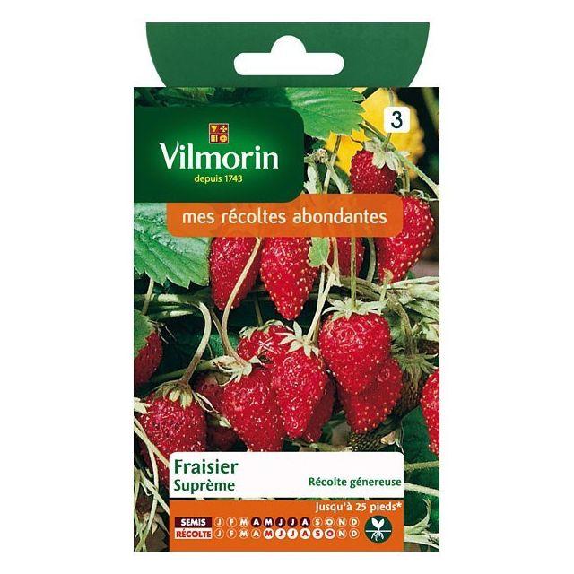 vilmorin sachet graines fraisier des 4 saisons supreme. Black Bedroom Furniture Sets. Home Design Ideas