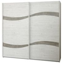 Altobuy - Wulfric - Armoire 2 Portes Coulissantes
