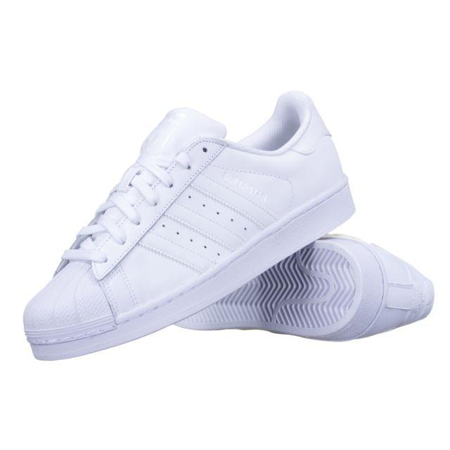 a8606867aa78 Adidas originals - Chaussure Adidas Superstar Foundation B27136 Blanc