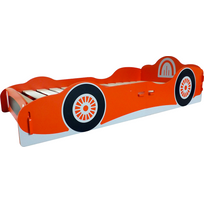 Kidsaw - Grand lit en bois Racing Car voiture rouge garçon 90 x 190 cm