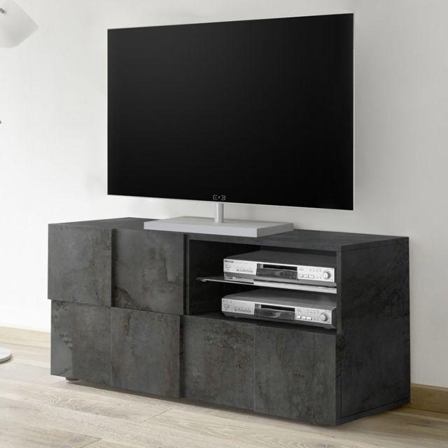 Kasalinea Banc Tv 120 cm anthracite design Dominos 5