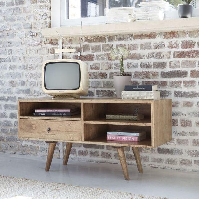 Bois Dessus Bois Dessous Meuble Tv en bois de mindy 1 tiroir