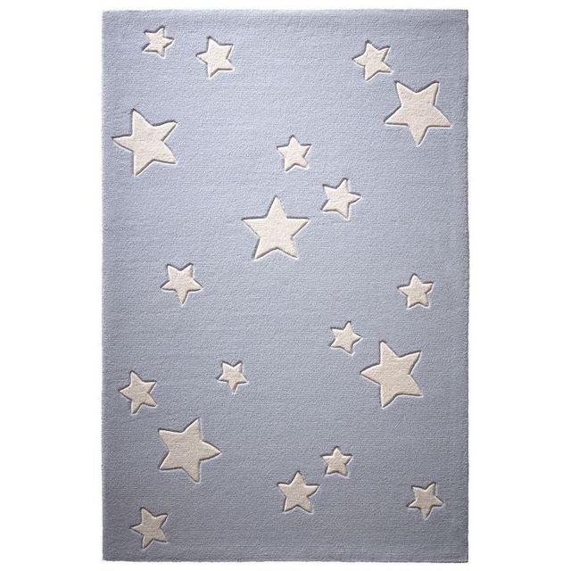 Tapis Ciel Etoiles Gris par chambre enfant garçon ou fille - Couleur -  Gris, Taille - 60 x 100 cm
