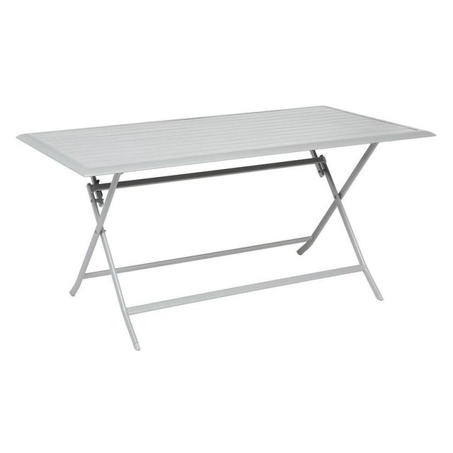 Hespéride Table aluminium Azua 6 places silver mat
