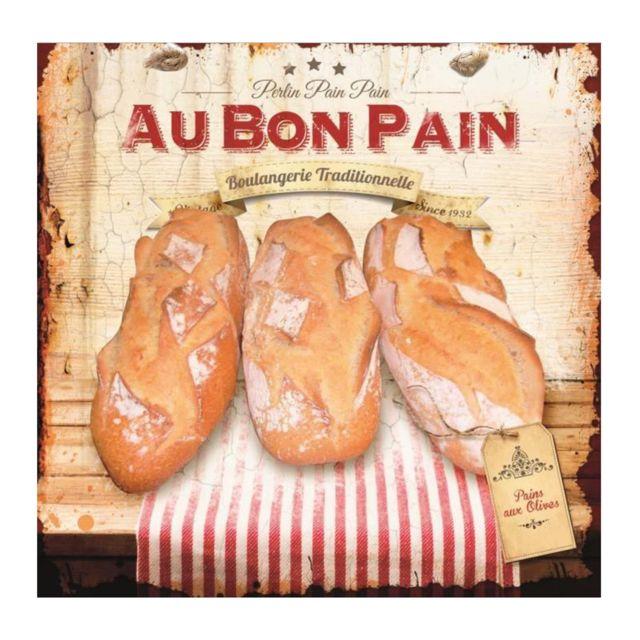 Class d co plaque d corative 20x20 au bon pain baguettes en m tal boulangerie d co murale - Plaque deco cuisine ...
