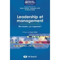 De Boeck Superieur - leadership et management ; être leader, ça s'apprend