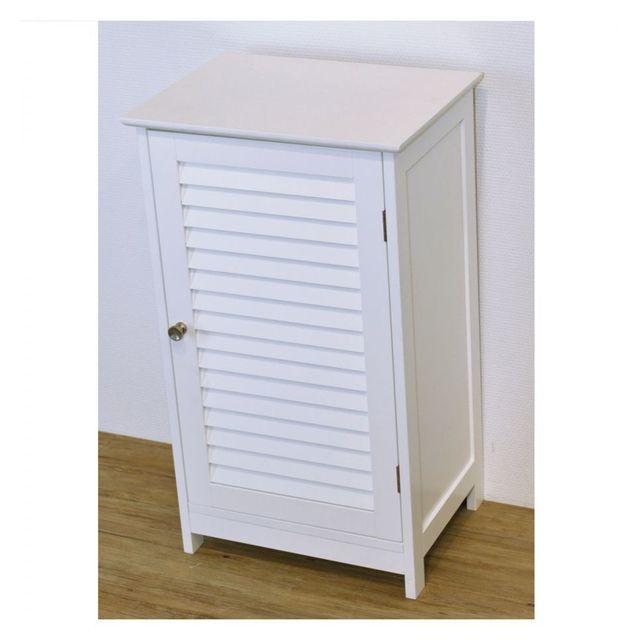 Tendance l ment bas 1 porte persienne florence pas cher achat vente meuble bas salle de - Element bas salle de bain ...