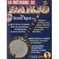 Beuscher - Méthode de banjo 4 et 5 cordes Séguret - Jj Rebillard +CD