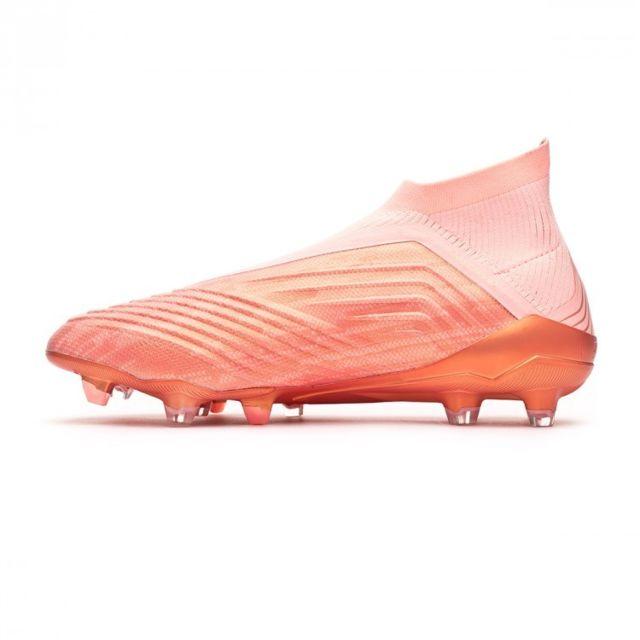 Adidas Predator 18+ FG Clear orange Trace pink pas cher