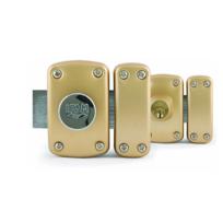 IFAM - Verrou D5 double cylindre 50mm 3 clés - gabarit de pose + rosace 27500