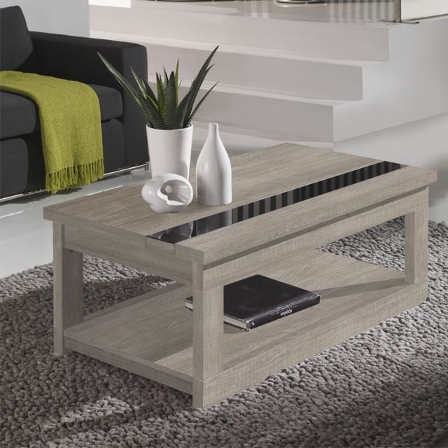 Table Basse Relevable Chêne Clair Upti