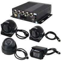 Wewoo - Enregistreur vidéosurveillance Voiture Camion 360 Degrés En Temps Réel Surveillance 4 Ch En 720 P 1280 720 Pixels Sd Mobile Dvr Ahd Entrée et Analogique Définition Standard Entrée Caméra