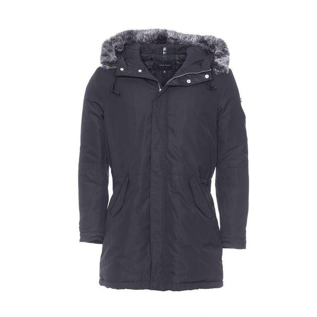 ANTONY MORATO - Manteau long noir, capuche à fourrure amovible XXL - pas  cher Achat   Vente Manteau homme - RueDuCommerce 0fe238eb3496
