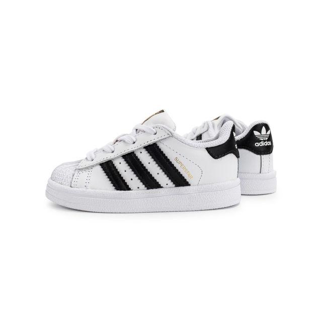 Adidas Superstar Foundation Bébé Blanche Et Noire pas