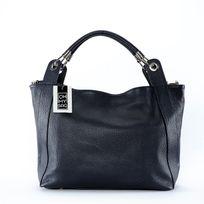 Oh My Bag - Sac à Main Cuir femme - Modèle Paris bleu foncé