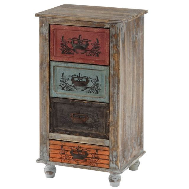 Mendler Commode Vigo armoire table d'appoint, vintage, shabby chic, 79x43x33cm