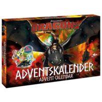 Dragons - Calendrier de l'Avent - DreamWorks Anglais/Allemand, : figurines, puzzles, stickers etc