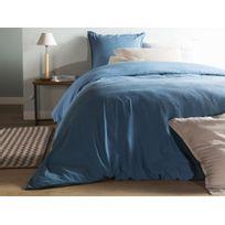 Comptoir Des Toiles - Housse de couette unie lin et coton lavé Hortense - Bleu - 140x200cmNC