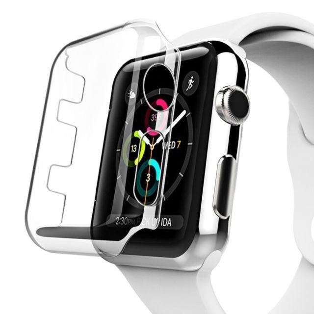 wewoo boitier coque transparent pour apple watch series 2 42mm pc housse de protection pas. Black Bedroom Furniture Sets. Home Design Ideas