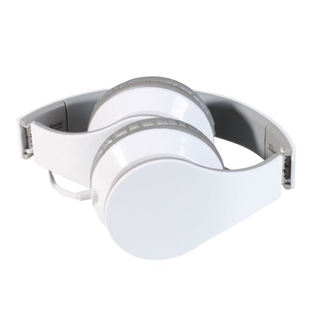 Clip Sonic Technology - Casque supra-auriculaire avec micro blanc Tec569W