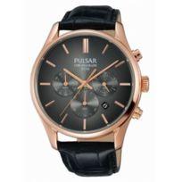 Pulsar - Montre Homme modèle Tradition Noire et Dorée - Pt3782X1 - cadeau idéal