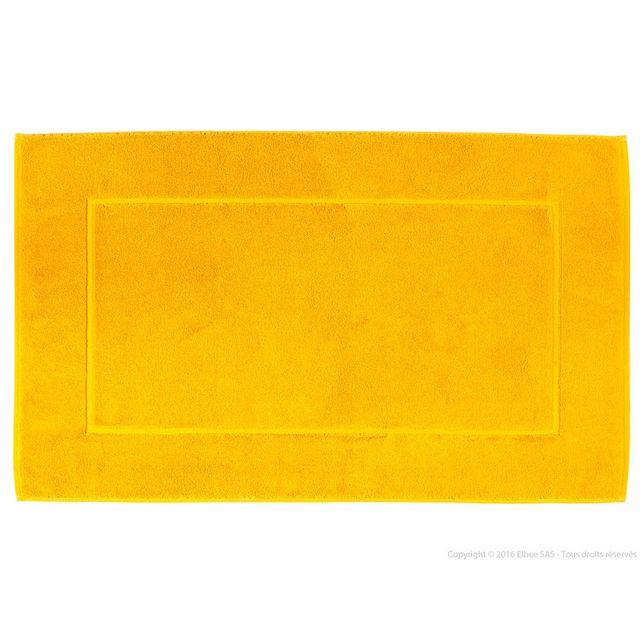 Comptoir Des Toiles Tapis de bain 100% coton 1000gr/m2 encadrement ciselé 60x100cm Axel - Safran