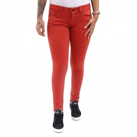 057f8922194b Pepe Jeans - Pantalon Chino Slim Soho Rouge Femme Pépé Jeans - pas cher  Achat   Vente Pantalon femme - RueDuCommerce