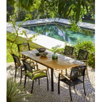 CARREFOUR - Table de jardin extensible Louga