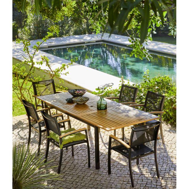 CARREFOUR - Table de jardin extensible Louga - pas cher ...