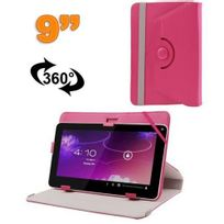 Yonis - Housse universelle tablette 9 pouces protection support 360° Magenta