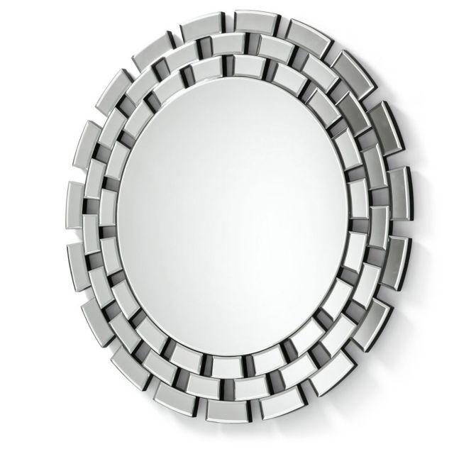 Ma Maison Mes Tendances Miroir rond 90 cm en verre Andy - L 90 x l 90 x H 2