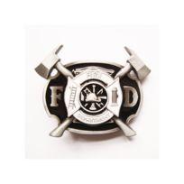 Boucle de ceinture pompier blason noiret blanc firemen homme. UNIVERSEL ... c4aef296824