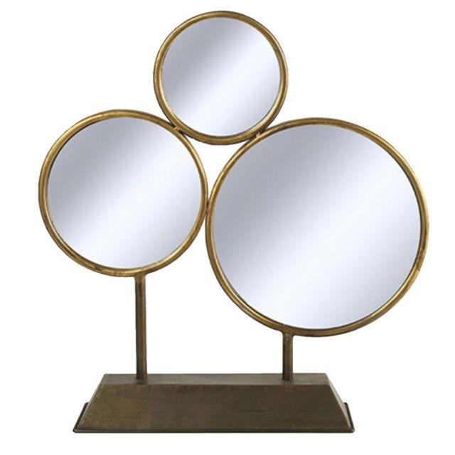 Decoshop Miroirs ronds à poser 46 cm
