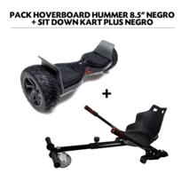"Air Rise - Pack Hoverboard 8,5"" Hummer Noir+ Hoverkart Noir avec bluetooth sac et télécommande"