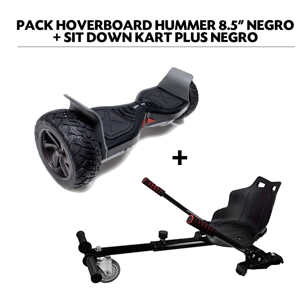 "Pack Hoverboard 8,5"" Hummer Noir+ Hoverkart Noir avec bluetooth sac et télécommande"