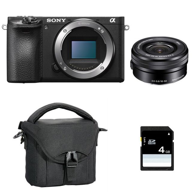 Sony Pack Alpha 6500 Noir + 16-50 + Sd 4 Go + Sac
